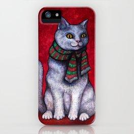 Holiday Yule Cat Jólakötturinn iPhone Case