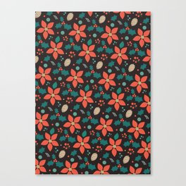 Deck the Halls - Black Background  (Patterns Please) Canvas Print