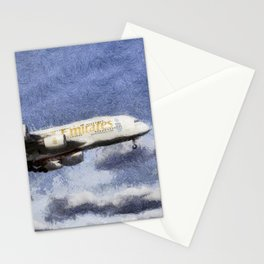 Emirates A380 Airbus Art Stationery Cards
