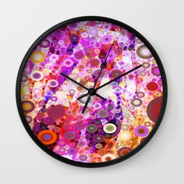 Colorful Party Kringles Wall Clock