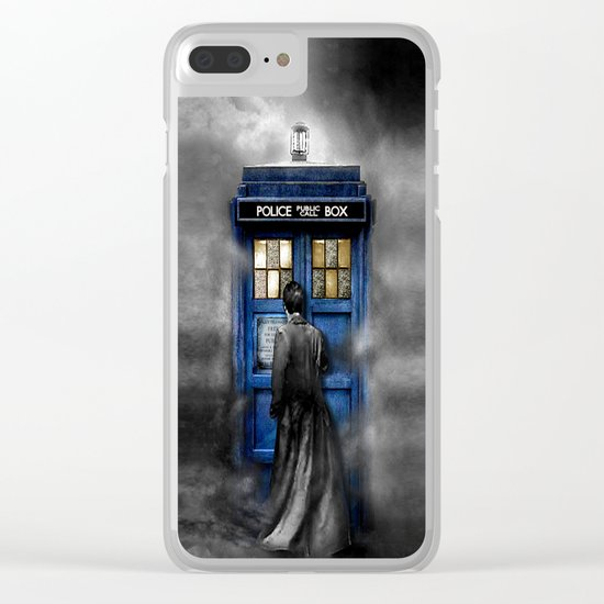 Tardis doctor who lost in the Mist apple iPhone 4 4s 5 5s 5c, ipod, ipad, pillow case and tshirt Clear iPhone Case