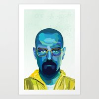 heisenberg Art Prints featuring Heisenberg by Ned & Ems