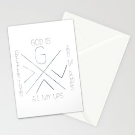 God is greater Stationery Cards