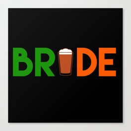 Irish Bride St. Patrick's Bachelorette Canvas Print