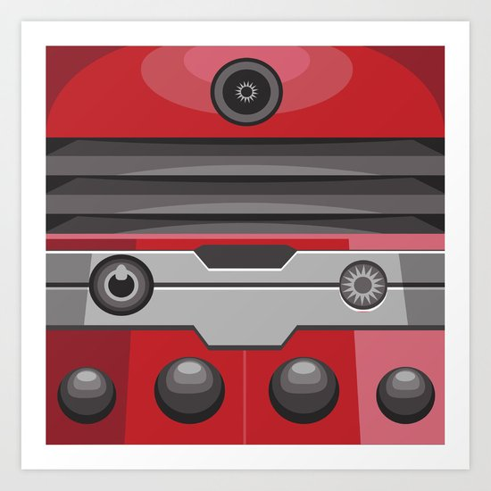 Dalek Red - Doctor Who Art Print