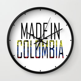 Made In Colombia Wall Clock
