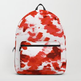 Spiral Red and White Tie and Dye Design  Backpack