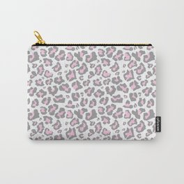 Pastel pink gray vector modern cheetah animal print Carry-All Pouch