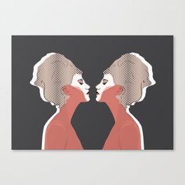 Think Twice - Double Canvas Print