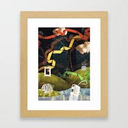 Rain Ribbons Framed Art Print