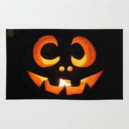 Vector Image of Friendly Halloween Pumpkin Rug