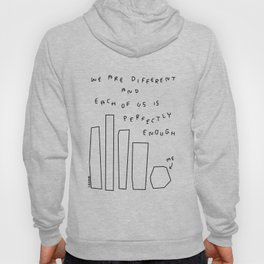 We Are Perfectly Enough - Illustration One Line Drawing Humor Quotes Self-Love Mental Health Self-Acceptance Hoody