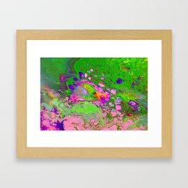 Green Acid Framed Art Print