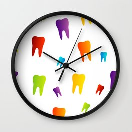 Colorful Sweet tooth Wall Clock