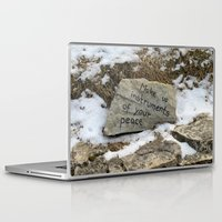 poland Laptop & iPad Skins featuring Peace in Poland by Anything et Everything by Nina L.