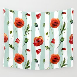 Poppy and Stripes Wall Tapestry