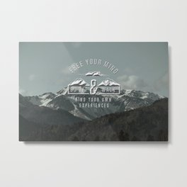 Free your mind Metal Print