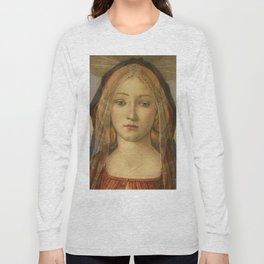 "Sandro Botticelli ""The Virgin and Child with Saint John and an Angel"" The Virgin Long Sleeve T-shirt"