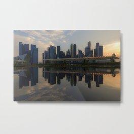 Singapore, Skyline Metal Print