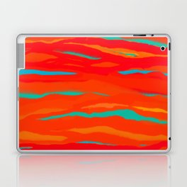Ripped Turquoise Sunset Sky Laptop & iPad Skin