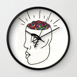 Wild Brain Wall Clock