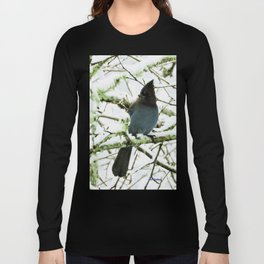 Steller's Jay in the Snow Long Sleeve T-shirt