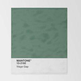 MANTONE® Wage Gap Throw Blanket