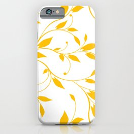 FLOWERY VINES | white yellow iPhone Case