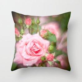 Rose pink Throw Pillow