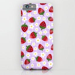 Sweet Strawberries - lilac iPhone Case