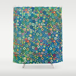 dp065-3 floral pattern Shower Curtain