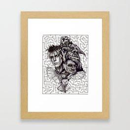 Labrynth Framed Art Print
