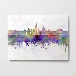 Graz skyline in watercolor background Metal Print