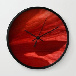 Flower Red Petal Shadow Abstract Wall Clock