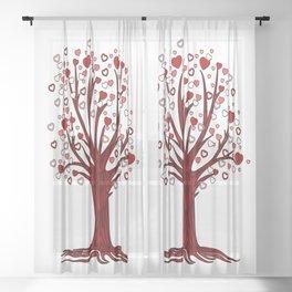 Heart Tree (2) Sheer Curtain