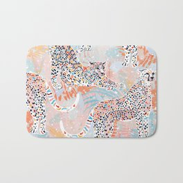Colorful Wild Cats Bath Mat