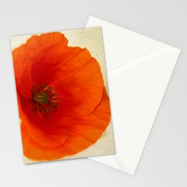 Lonesome Poppy Flower Stationery Cards