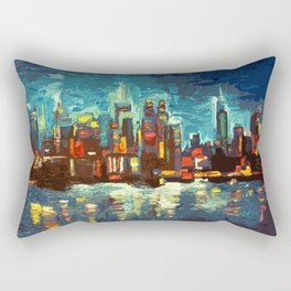 Abstract NYC Skyline Rectangular Pillow