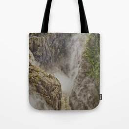 Beautiful waterfall in the rainforest Tote Bag