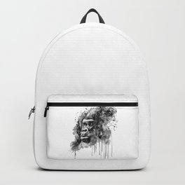 Powerful Gorilla Black and White Backpack