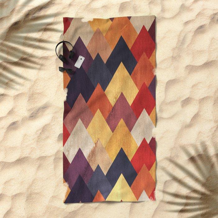 Eccentric Mountains Beach Towel