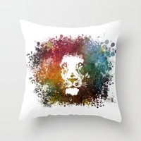 the lion king Throw Pillows featuring Lion King by jbjart