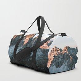 Dolomites sunset panorama - Landscape Photography Duffle Bag