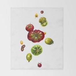 Heirloom Tomatoes Throw Blanket