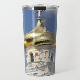 Onion Domes Alexander Nevsky Cathedral Travel Mug