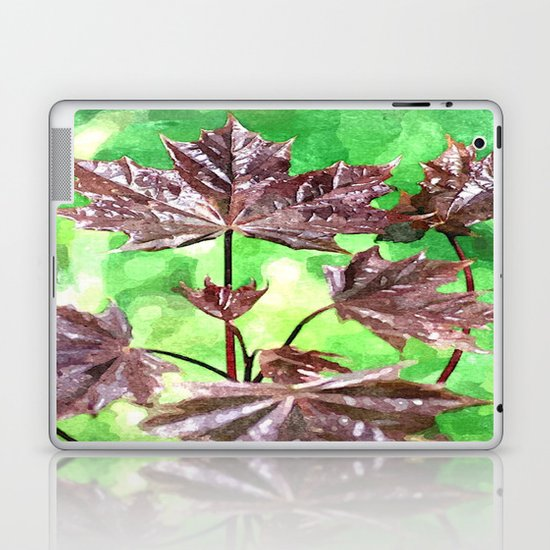 Forest Foliage watercolour Laptop & iPad Skin