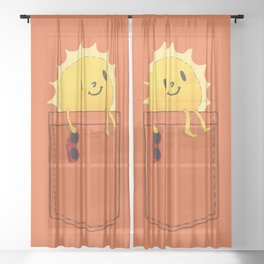 Pocketful of sunshine Sheer Curtain