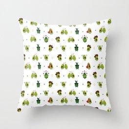 Avocado Pattern - holy guacamole collection Throw Pillow