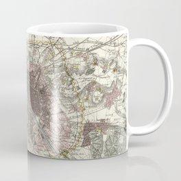 Vintage Map of Paris France (1883) Coffee Mug