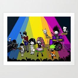 Lilwickidz Rock n Roll Band Art Print
